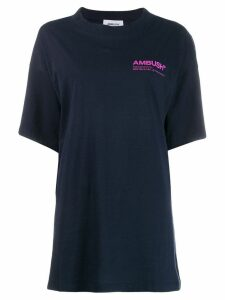 Ambush oversized logo print T-shirt - Blue
