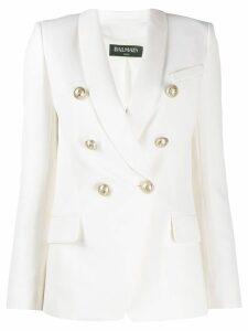 Balmain decorative button blazer - White