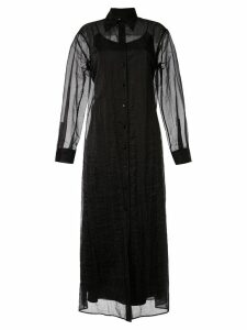 Maison Margiela sheer shirt dress - Black