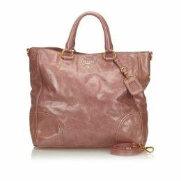 Prada Pink Vitello Shine Leather Satchel