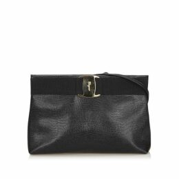 Ferragamo Black Vara Leather Crossbody Bag