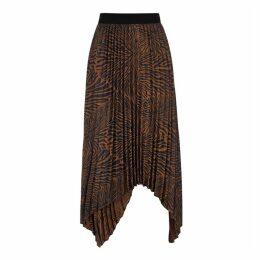 BY MALENE BIRGER Nicanora Zebra-print Midi Skirt