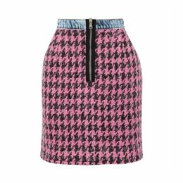Natasha Zinko Houndstooth Tweed Mini Skirt