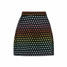 Olivia Rubin Libby Polka-dot Silk Mini Skirt