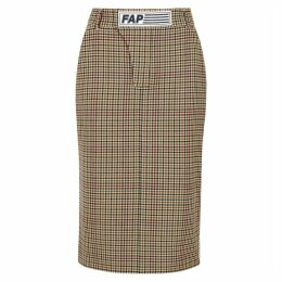 Filles à Papa Shaun Checked Stretch-twill Pencil Skirt