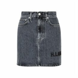 Helmut Lang Femme Grey Denim Mini Skirt