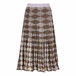 Baum Und Pferdgarten Cyrilla Geometric Metallic-weave Midi Skirt