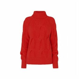 Kitri Belle Red Cable Knit Jumper