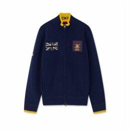 Hackett Knitwear Army Polo Fzip