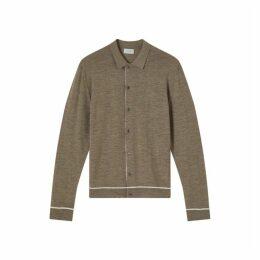 Jigsaw Carr Buttoned Merino Knit
