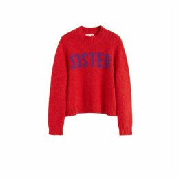 Chinti & Parker Red Sister Alpaca-wool Sweater