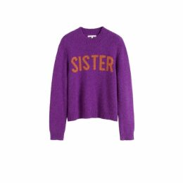 Chinti & Parker Purple Sister Alpaca-wool Sweater