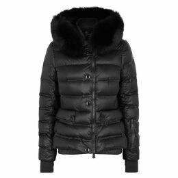Moncler Grenoble Black Fur-trimmed Shell Jacket