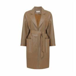Gushlow & Cole Leather Mac Coat