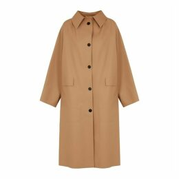 KASSL Brown Rubberised Trench Coat