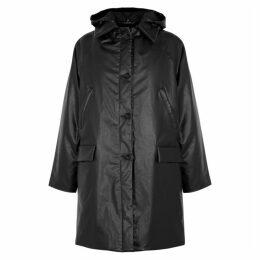 KASSL Black Coated Cotton Coat