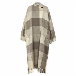Jil Sander Luella Checked Cape-effect Wool Coat
