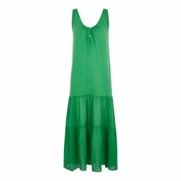 Velvet By Graham & Spencer Green Cotton Maxi Dress