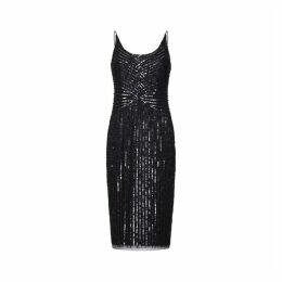 Adrianna Papell Tank Beaded Midi Dress