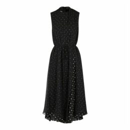 Vince Polka-dot Layered Chiffon Midi Dress