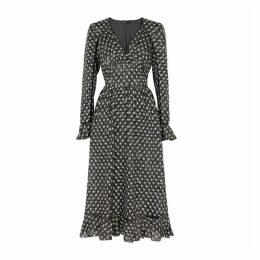 Stine Goya William Star-print Midi Dress
