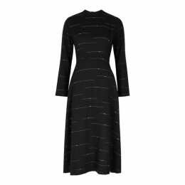 Bodice Black Slubbed Wool Dress