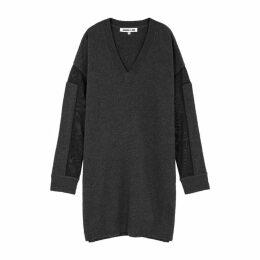 McQ Alexander McQueen Charcoal Jersey Sweatshirt Dress