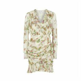 Giambattista Valli Floral-print Silk Chiffon Mini Dress