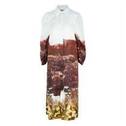 Baum Und Pferdgarten Amira Printed Silk Midi Shirt Dress