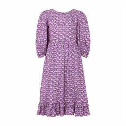 BATSHEVA Printed Cotton Midi Dress