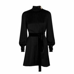 Mother Of Pearl Johanna Black Satin Mini Dress