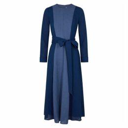 Cefinn Aubrie Panelled Voile Midi Dress