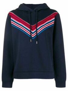 Sandro Paris hoodie with stripe detail - Blue