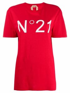 Nº21 logo print T-shirt - Red