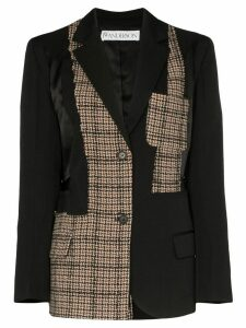 JW Anderson deconstructed patchwork blazer - Black