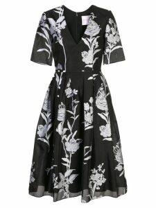Carolina Herrera floral brocade midi dress - Black