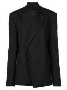 Proenza Schouler Novelty Lapel Wool Twill Blazer - Black