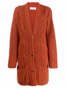 Gentry Portofino chunky knit cardigan - Orange