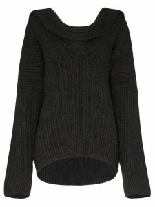 Jacquemus draped knitted jumper - Grey