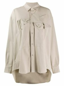 Katharine Hamnett London oversized button down shirt - Neutrals