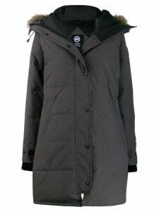 Canada Goose fur trim parka - Black