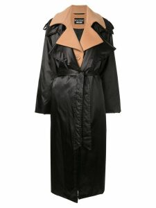 Boutique Moschino layered-effect trench coat - Black