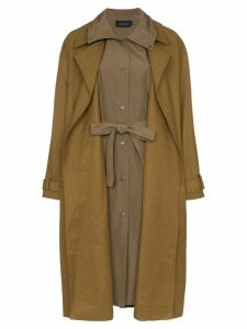 Low Classic layered trench-coat - Green