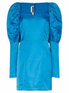 Rotate puffed shoulder mini-dress - Blue