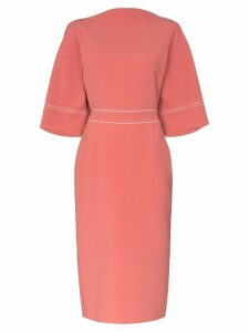 Roksanda Mave bow detail midi dress - Pink