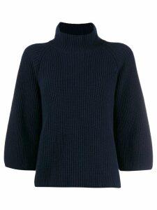 Gentry Portofino funnel neck jumper - Blue