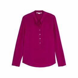 Stella McCartney Eva Raspberry Silk Blouse