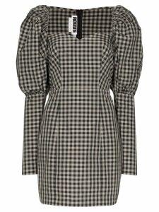 Rotate gingham mini dress - Black