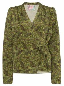 By Walid Haidee Japanese print blouse - Green