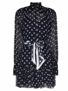 Zimmermann polka-dot print dress - Blue